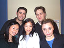 Clockwise from top left: Jeremy Schwartz, Shane O'Herlihy, Alina Neventsel, Dixie Ho, Rhoderica Chan